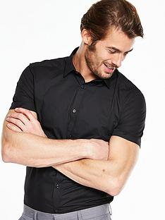v-by-very-short-sleeve-slim-shirt-black