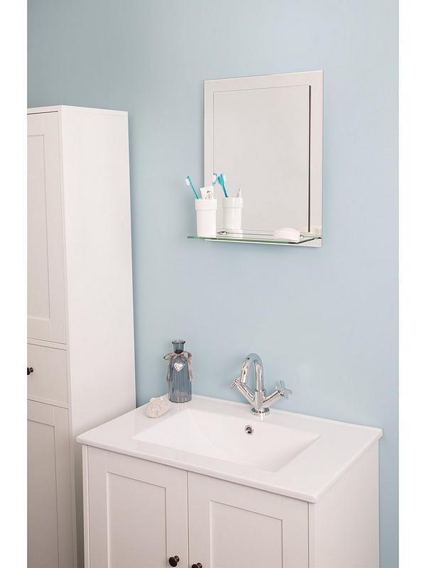 Croydex Rydal Double Layer Bathroom Mirror With Shelf Very Co Uk