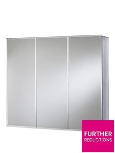 croydex-westbourne-triple-door-tri-view-white-steel-bathroom-cabinet