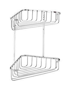 croydex-rust-free-two-tier-corner-shower-basket
