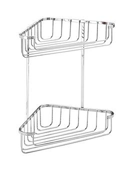 croydex-rust-free-two-tier-corner-shower-basket