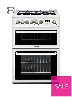 hotpoint-newstyle-hag60p-60cm-double-oven-gas-cooker-with-fsdnbsp--white