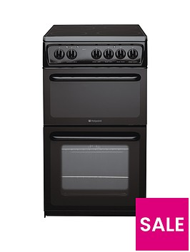 hotpoint-hae51ks-50cm-twin-cavity-electric-cooker-black