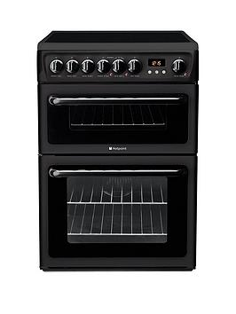 Hotpoint Newstyle Hae60K 60Cm Double Oven Electric Cooker With Ceramic Hob - Black
