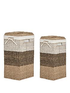 hexagon-laundry-hampers-set-of-2