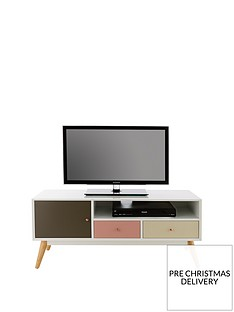 Ideal Home Orla Blush TV Unit - fits up to 50 inch TV