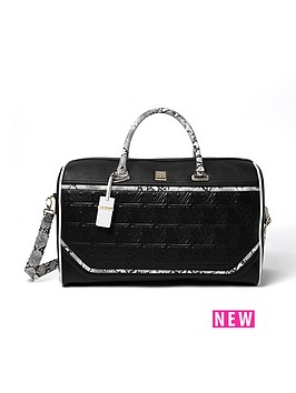 river-island-river-island-quilted-weekend-bag-with-mono-snake-detail