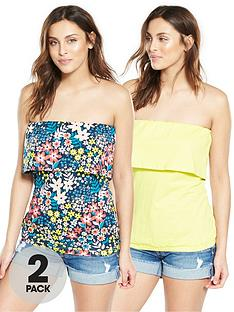 v-by-very-2-pack-frill-strapless-tops-floralyellow