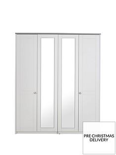 Alderley 4 Door Mirrored Wardrobe