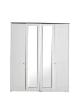 Alderley 4 Door Mirrored Wardrobe