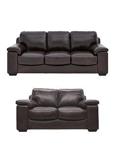 Vinci 3 Seater + 2 Seater Leather Sofa Set (Buy And SAVE!)