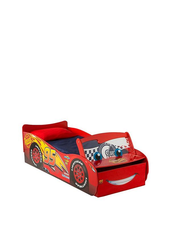 check out bbbd0 c589e Lightning McQueen Toddler Bed with Light up Windscreen by HelloHome