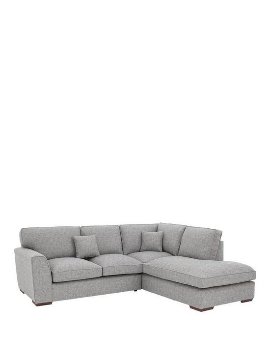 Rio Standard Back Fabric Right-Hand Corner Chaise Sofa | very.co.uk