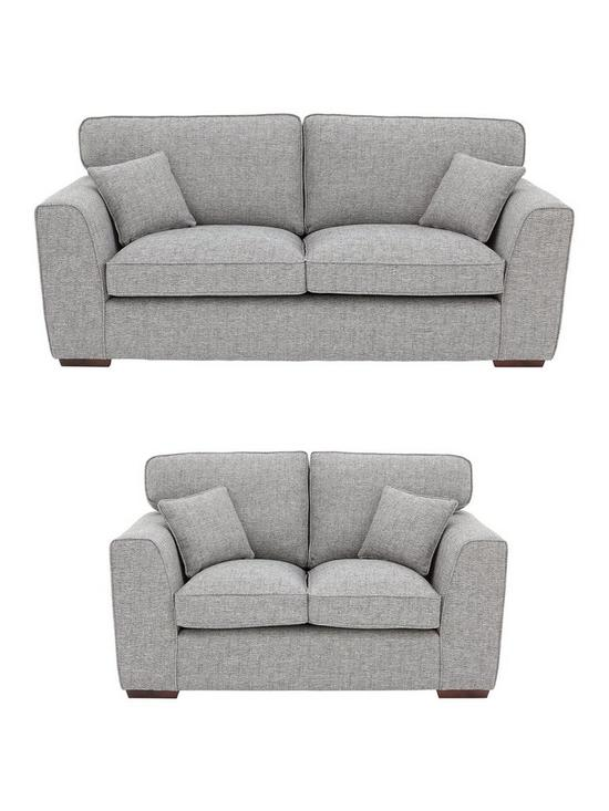 Ordinaire Rio 3 Seater + 2 Seater Standard Back Fabric Sofa Set (Buy And SAVE!) |  Very.co.uk
