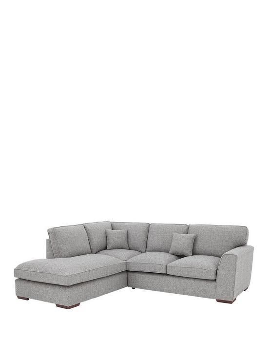 Rio Standard Back Fabric Left Hand Corner Chaise Sofa