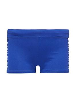 Photo of Calvin klein logo taped swim trunk