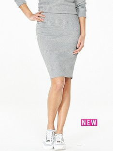 v-by-very-bonded-rib-skirt