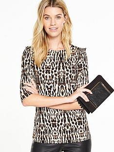 v-by-very-animal-print-ruffle-detail-top