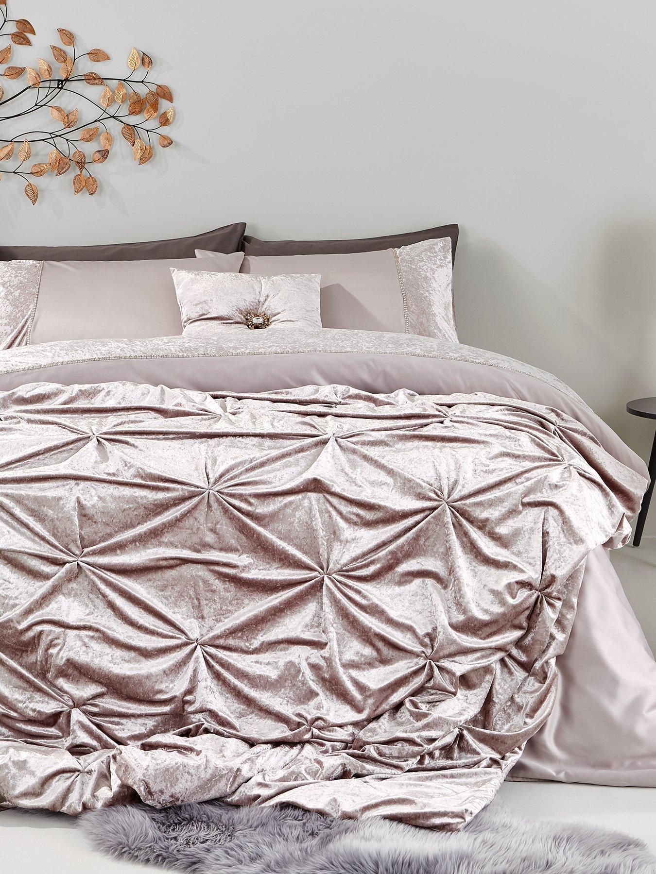 LUXURIOUS PINTUCK ALEXANDER PANEL POLLY//COTTON DUVET QUILT COVER SET IN ALL SIZE