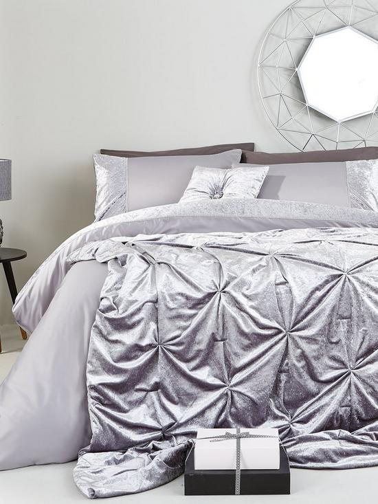 Attractive Amelie Crushed Velvet Bedspread Throw | very.co.uk VJ16