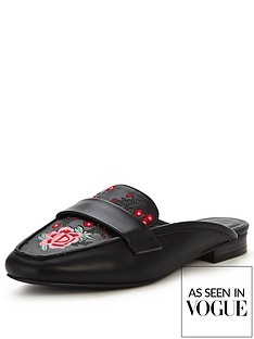 v-by-very-tammy-embroidered-backless-loafer-black