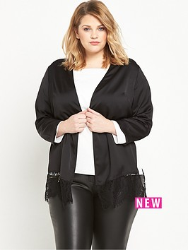 ri-plus-lace-hem-duster-jacket-black