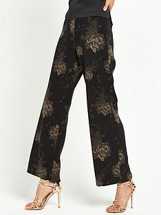 river-island-printed-wide-leg-trouser