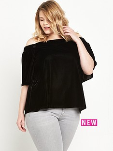 ri-plus-velvet-bardot-top-black