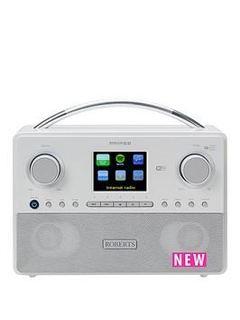 roberts-roberts-radio-stream93i-white-dabdabfm-rds-and-wifi-internet-radio-with-three-way-speaker-system