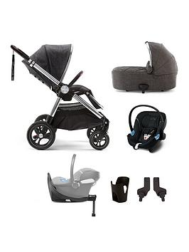 Mamas & Papas Ocarro Signature Edition 6-Piece Travel System Bundle - (Pushchair, Carry Cot, Car Seat, Isofix Base, Adaptor And Cupholder)