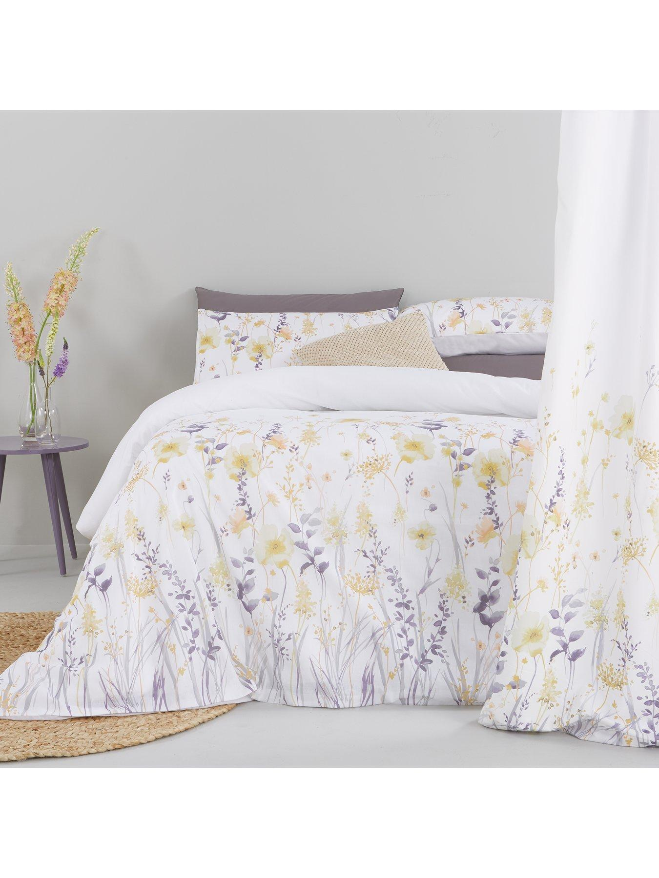 ida waterolour floral duvet set