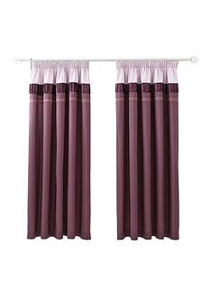 velvet-panel-purple-pleated-curtains