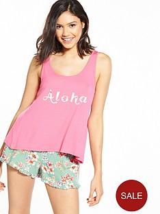 v-by-very-aloha-short-and-swing-top-pyjama-set