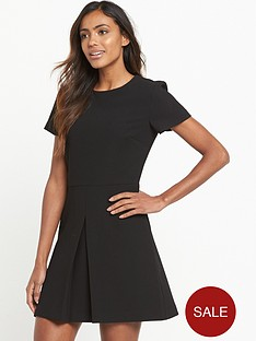 warehouse-box-pleat-dress-black