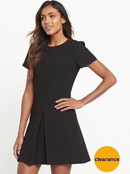 warehouse-box-pleat-dress-black