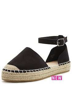 v-by-very-minnie-flat-espadrille-black