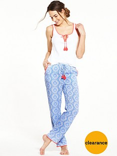 v-by-very-paisley-vest-pyjama-set