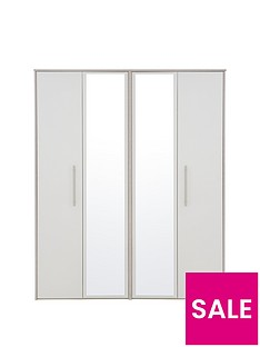 Arden 4 Door Mirrored Wardrobe