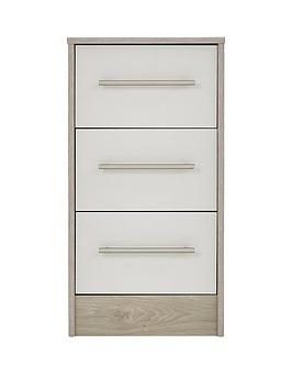 Arden Ready Assembled 3 Drawer Bedside Chest