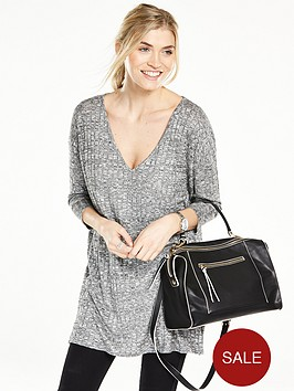 v-by-very-jersey-ribbed-knit-v-neck-tunic