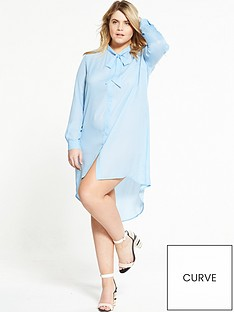 alice-you-tie-neck-dress-blue