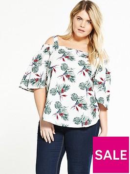 alice-you-cold-shoulder-printed-blouse