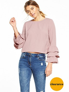 glamorous-long-sleeve-frill-blouse-pink