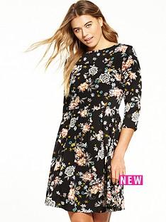 glamorous-floral-skater-dress