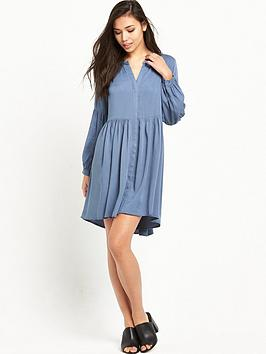 glamorous-button-down-denim-swing-dress