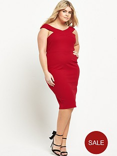 ax-paris-curve-curve-wide-neck-midi-bodycon-dress-red