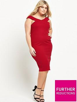 ax-paris-curve-curve-wide-neck-midi-bodycon-dress-red