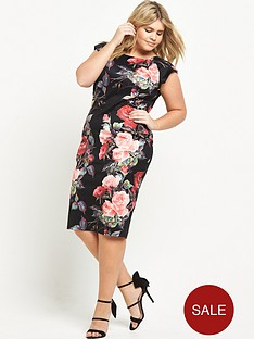 ax-paris-curve-curve-floral-printed-midi-dress