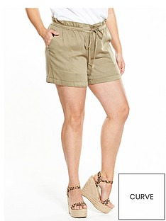 v-by-very-curve-paper-bag-waist-viscose-short