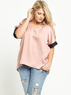 ri-plus-cold-shoulder-top-pink